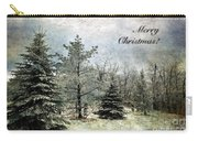 Frosty Christmas Card Carry-all Pouch