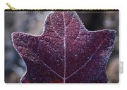 Frosty Lighted Leaf Carry-all Pouch