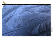 Frosty Palm Tree Fronds On Car Trunk Carry-all Pouch