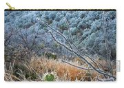 Frosty Prickly Pear Carry-all Pouch