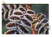 Frosty Rose Leaves Carry-all Pouch