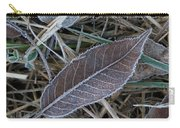 Frosty Veined Leaf Carry-all Pouch