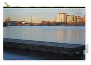 Frozen Dock On The Charles River Carry-all Pouch