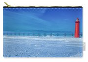 Frozen Lake Michgan At Grand Haven Carry-all Pouch