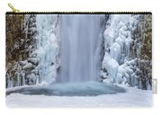 Frozen Multnomah Falls Closeup Carry-all Pouch