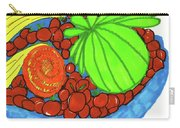 Fruit In A Blue Bowl Carry-all Pouch