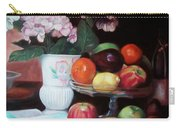 Fruit On Glass Dish II Carry-all Pouch