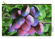 Fruit Plums  On Tree Carry-all Pouch