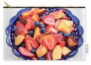 Fruit Salad In Blue Bowl Carry-all Pouch