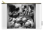 Fruit Seller Blue City Street India Rajasthan Bw 1b Carry-all Pouch