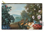 Fruits Flowers And Vegetables In A Landscape Carry-all Pouch