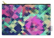 Fruity Rose   Fancy Colorful Abstraction Pattern Design  Green Pink Blue  Carry-all Pouch