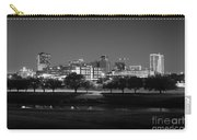 Ft. Worth Texas Skyline Dusk Black And White Carry-all Pouch