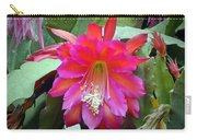 Fuchia Cactus Flower Carry-all Pouch