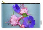 Fuchsia And Cranesbill Carry-all Pouch