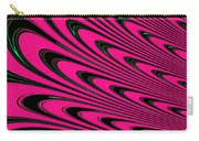 Fuchsia Peacock Feathers Fractal Carry-all Pouch