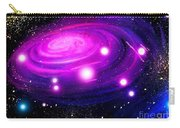 Fuchsia Pink Galaxy, Bright Stars Carry-all Pouch