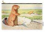 Fuertes, Louis Agassiz 1874-1927 - Burgess Animal Book For Children 1920 Prairie Dog Carry-all Pouch