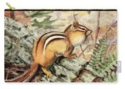 Fuertes, Louis Agassiz 1874-1927 - Burgess Animal Book For Children 1920 Striped Chipmunk Carry-all Pouch