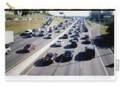Fujifilm Instax Instant-film Picture Of Ih-35 Rush Hour Traffic  Carry-all Pouch