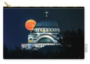 Full Blood Moon Over The Magnificent St. Sava Temple In Belgrade Carry-all Pouch