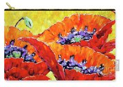 Full Bloom Poppies By Prankearts Fine Art Carry-all Pouch