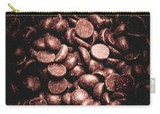Full Frame Background Of Chocolate Chips Carry-all Pouch