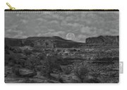 Full Moon Over Red Cliffs Bw Carry-all Pouch