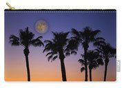 Full Moon Palm Tree Sunset Carry-all Pouch