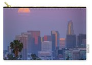 Full Moon Rising Over Downtown Los Angeles Skyline Carry-all Pouch