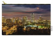 Full Moon Rising Over Downtown Portland Carry-all Pouch