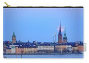 Full Moon Rising Over Gamla Stan Churches In Stockholm Carry-all Pouch