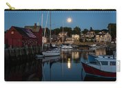 Full Moon Rising Over Motif  Number 1 Rockport Ma Moonrise Carry-all Pouch