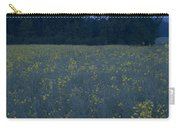 Full Moon Setting Over Rapeseed Field Carry-all Pouch
