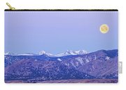 Full Moon Setting Over The Colorado Rocky Mountains Carry-all Pouch