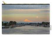 Full Moonrise Over Mount Hood Along Columbia River Carry-all Pouch