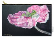 Fully Open Poppy Carry-all Pouch