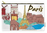 Fun Food And Folly In Paris Carry-all Pouch