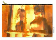 Funky Abstract Square Welcome Couple Sunny Yellow Lake City 1b Carry-all Pouch