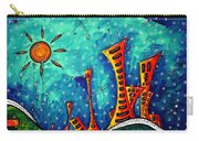 Funky Town Original Madart Painting Carry-all Pouch