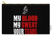 Funny Baseball Pitcher Design My Blood Carry-all Pouch