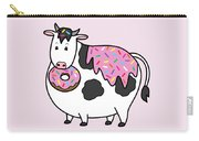 Funny Fat Holstein Cow Sprinkle Doughnut Carry-all Pouch