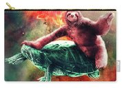 Funny Space Sloth Riding On Turtle Carry-all Pouch