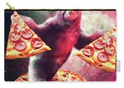 Funny Space Sloth With Pizza Carry-all Pouch