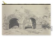 Furness Abbey East  29 August 1836 By Edward Lear  1836 Carry-all Pouch
