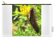 Furry Caterpillar On A Yellow Flower Carry-all Pouch