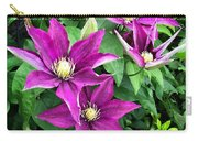 Fushia Clematis Flowers Carry-all Pouch