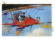 Futuristic Air Travel Vintage Poster Carry-all Pouch