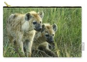 Fuzzy Baby Hyenas Carry-all Pouch