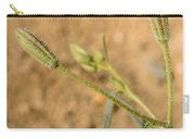 Fuzzy Flower Carry-all Pouch